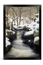 Winter In Padley Gorge, Framed Print