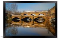 Norfolk Bridge Train & Reflections, Framed Print