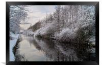Sheffield Canal, Framed Print