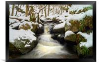Winter In Padley Gorge, Framed Print