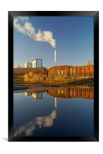 Incinerator Reflections in River Don, Framed Print