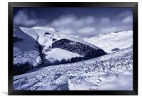 Snow covered Valley,Grindsbrook near Edale, Framed Print