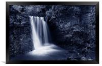 Peak District Waterfall, Framed Print