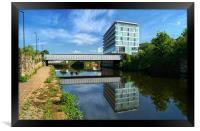 River Don in Rotherham, Framed Print