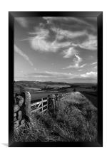 View Towards Over Owler Tor & Millstone Edge, Framed Print