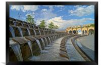 Sheaf Square Water Feature & Sheffield Station, Framed Print
