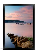 Looking across Swanage Bay, Dorset, Framed Print