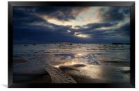 Sunrise over Swanage Bay, Dorset, Framed Print