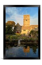 St Marys Church & Mill Pond, Swanage, Framed Print