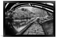 Supertram Bridge & Sheffield Canal, Framed Print