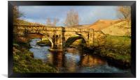 Slippery Stones Packhorse Bridge, Framed Print