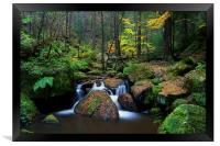 Wyming Brook Falls, Framed Print