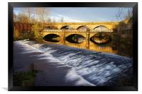 Norfolk Bridge and Burton Weir, Framed Print