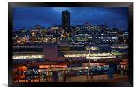 Sheffield Skyline at Night, Framed Print