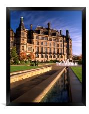 Sheffield Town Hall & Peace Gardens, Framed Print