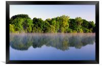 Misty Morning on Chard Reservoir, Framed Print
