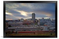 Sunset over Sheffield Skyline, Framed Print