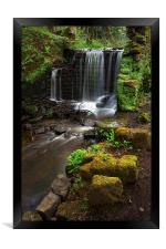 Rivelin Falls in Spring 4, Framed Print