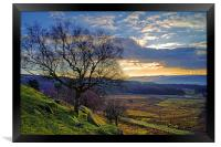 Longshaw Estate Sunset, Framed Print