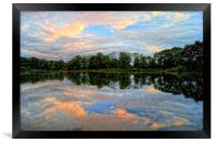 Chard Reservoir at Dawn, Framed Print