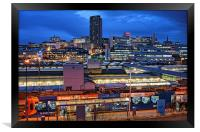 Sheffield City Centre at Night, Framed Print
