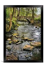 River Rivelin & Footbridge, Framed Print
