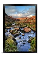 Burbage Brook in Autumn, Framed Print