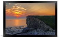 Nash Point Sunset , Framed Print