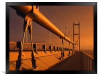 Humber Bridge at Sunset, Framed Print