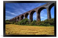 Conisbrough Viaduct , Framed Print