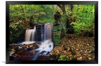 Rivelin Waterfalls in Autumn , Framed Print