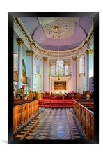 All Saints Church Interior, Gainsborough , Framed Print