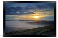 Sunrise over Hope Valley Mist, Framed Print