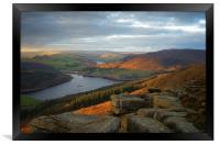 Ladybower View on Bamford Edge , Framed Print