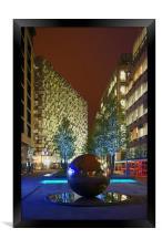 Millennium Square at Night , Framed Print