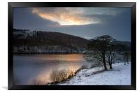 Winter Sunset over Ladybower , Framed Print