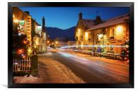 Christmas in Castleton , Framed Print