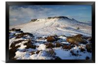 Carl Wark and Higger Tor in Winter , Framed Print