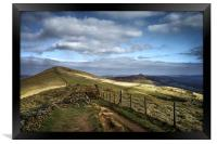 Footpath to Lose Hill , Framed Print