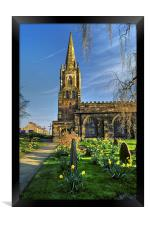 St Mary's Church, Handsworth, Sheffield , Framed Print