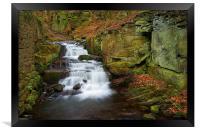 Lumsdale Waterfalls , Framed Print