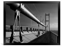Humber Bridge in Mono, Framed Print