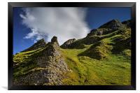 Limestone Pinnacles, Winnats Pass , Framed Print
