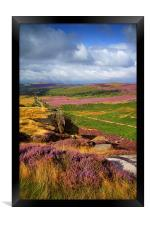Burbage Rocks and Valley , Framed Print