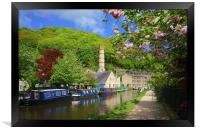 Rochdale Canal at Hebden Bridge , Framed Print