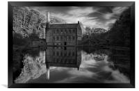 Gibson Mill Reflections , Framed Print