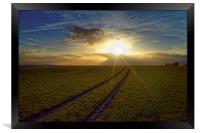 Penny Hill Sunset, Framed Print