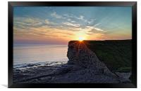 Sunset over Nash Point , Framed Print