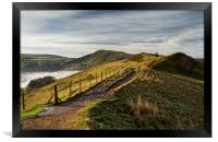 Misty Morning on the Great Ridge , Framed Print