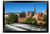 Rotherham Town Centre and River Don , Framed Print